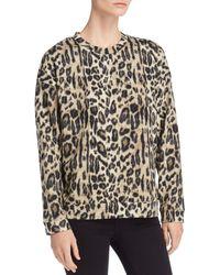 Kenneth Cole - Lightweight Leopard-print Sweatshirt - Lyst
