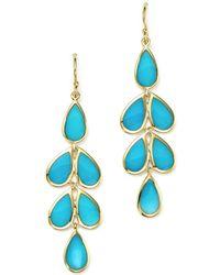 Ippolita - 18k Yellow Gold Rock Candy® Cascade Teardrop Earrings With Turquoise - Lyst