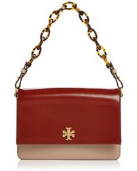 ed02e315e5d0 Tory Burch - Kira Color-block Leather Convertible Shoulder Bag - Lyst