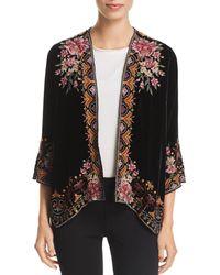 Johnny Was - Joanna Embroidered Velvet Kimono - Lyst