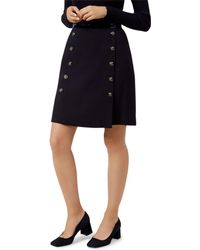 Hobbs - Gretta Button-detail Wool Skirt - Lyst