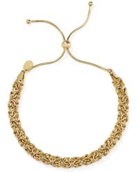 Argento Vivo - Woven Chain Adjustable Bracelet In 18k Gold - Plated Sterling Silver - Lyst