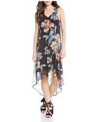 Karen Kane - Botanical Print High/low Dress - Lyst