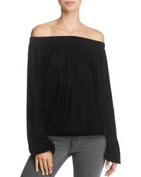 Bailey 44 - Children Of The Lilith Off-the-shoulder Velvet Top - Lyst