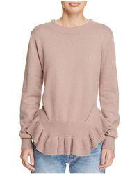 d.RA - Mai Ruffled Peplum Sweater - Lyst