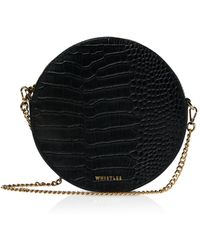 Whistles - Brixton Round Croc-embossed Leather Crossbody - Lyst