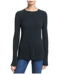 Aqua | Cashmere Fitted Crewneck Sweater | Lyst