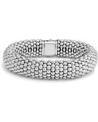 Lagos - Sterling Silver Caviar Oval Link Bracelet - Lyst