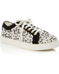 Jack Rogers - Women's Scalloped Suede & Tweed Low Top Lace Up Trainers - Lyst