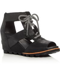 Sorel - Joanie Lace Up Wedge Sandals - Lyst