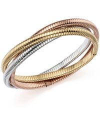 Bloomingdale's - 14k Yellow, White And Rose Gold Triple Tubogas Bracelet - Lyst
