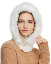Echo - Faux Fur-trim Hooded Scarf - Lyst