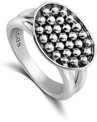 Lagos - Sterling Silver Bold Caviar Horizontal Ellipse Ring - Lyst