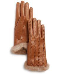 Max Mara - Alghero Mink Fur-trim Leather Gloves - Lyst