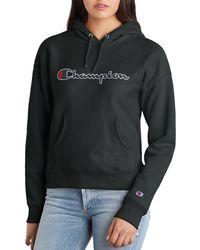 Champion - Reverse Weave Logo Hooded Sweatshirt - Lyst