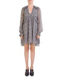 The Kooples - Leopard-print Babydoll Dress - Lyst