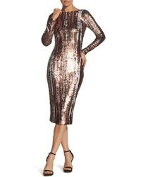 Dress the Population - Emery Sequined Dress - Lyst