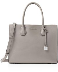 MICHAEL Michael Kors - Mercer Convertible Large Leather Tote - Lyst
