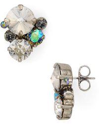 Sorrelli - Swarovski Crystal Cluster Stud Earrings - Lyst