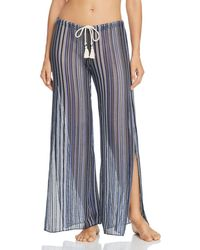 Becca - Pier Side Striped Swim Cover-up Pants - Lyst