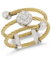 Alor - Cable Ring With Diamonds - Lyst