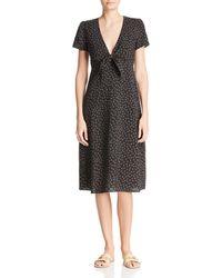 Re:named - Faith Floral-print Midi Dress - Lyst