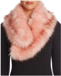 Bloomingdale's - Faux Fur Collar - Lyst