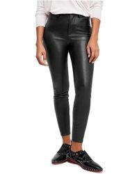 Free People - Long & Lean Faux-leather Pants - Lyst