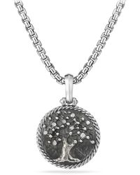 David Yurman - Tree Of Life Amulet With Diamonds - Lyst