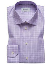 Eton of Sweden | Textured Grid Regular Fit Dress Shirt | Lyst