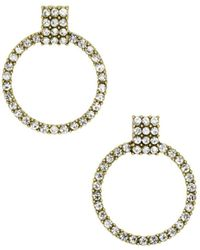 BaubleBar - Gemma Pavé Loop Drop Earrings - Lyst