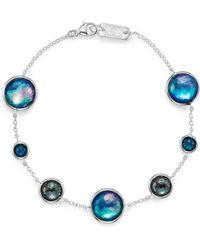 Ippolita - London Blue Topaz & Hematite Bracelet In Eclipse - Lyst