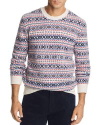 fc4eb1d3af J.Crew Lambswool Fair Isle Sweater In Grey for Men - Lyst
