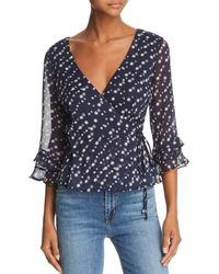 Sage the Label - Star Girl Printed Wrap Top - Lyst