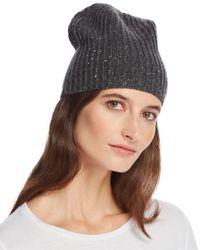 Aqua - Cashmere Donegal Cashmere Hat - Lyst