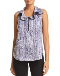 Kenneth Cole - Zip Front Blouse - Lyst