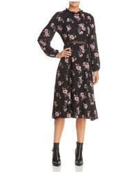 June & Hudson - Floral Print Prairie Dress - Lyst