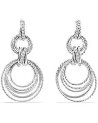 David Yurman - Crossover Double Drop Earrings With Diamonds - Lyst