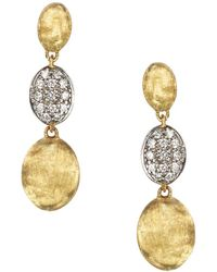 Marco Bicego - Diamond Siviglia Earrings In 18k Yellow Gold - Lyst