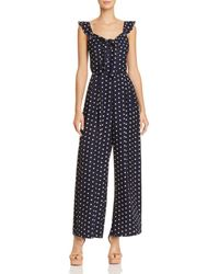 Lucy Paris - Polka Dot Wide-leg Jumpsuit - Lyst