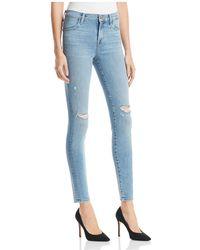 J Brand - Maria High-rise Skinny Jeans In Surge Destruct - Lyst