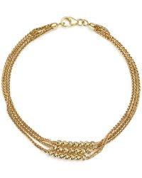 Bloomingdale's - 14k Yellow Gold Three Strand Bracelet With Beads - Lyst
