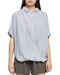 BCBGeneration - Striped Button-down Front-tuck Shirt - Lyst