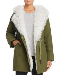 Maximilian - Rabbit Fur-lined Parka With Lamb Shearling Trim - Lyst