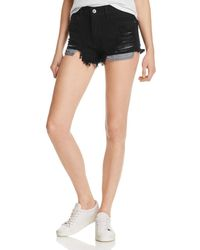 Pistola - Nova Distressed Denim Cutoff Shorts In Onyx - Lyst