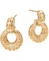 John Hardy - 18k Yellow Gold Classic Chain Drop Earrings - Lyst