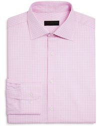 Ike Behar | Textured Check Regular Fit Dress Shirt | Lyst