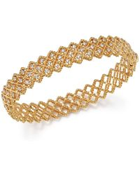 Roberto Coin - 18k Yellow Gold New Barocco Diamond Bangle - Lyst