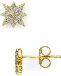 Aqua - Starburst Stud Earrings - Lyst