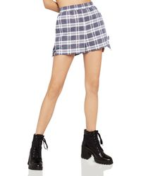 BCBGeneration - Tie-hem Plaid Shorts - Lyst